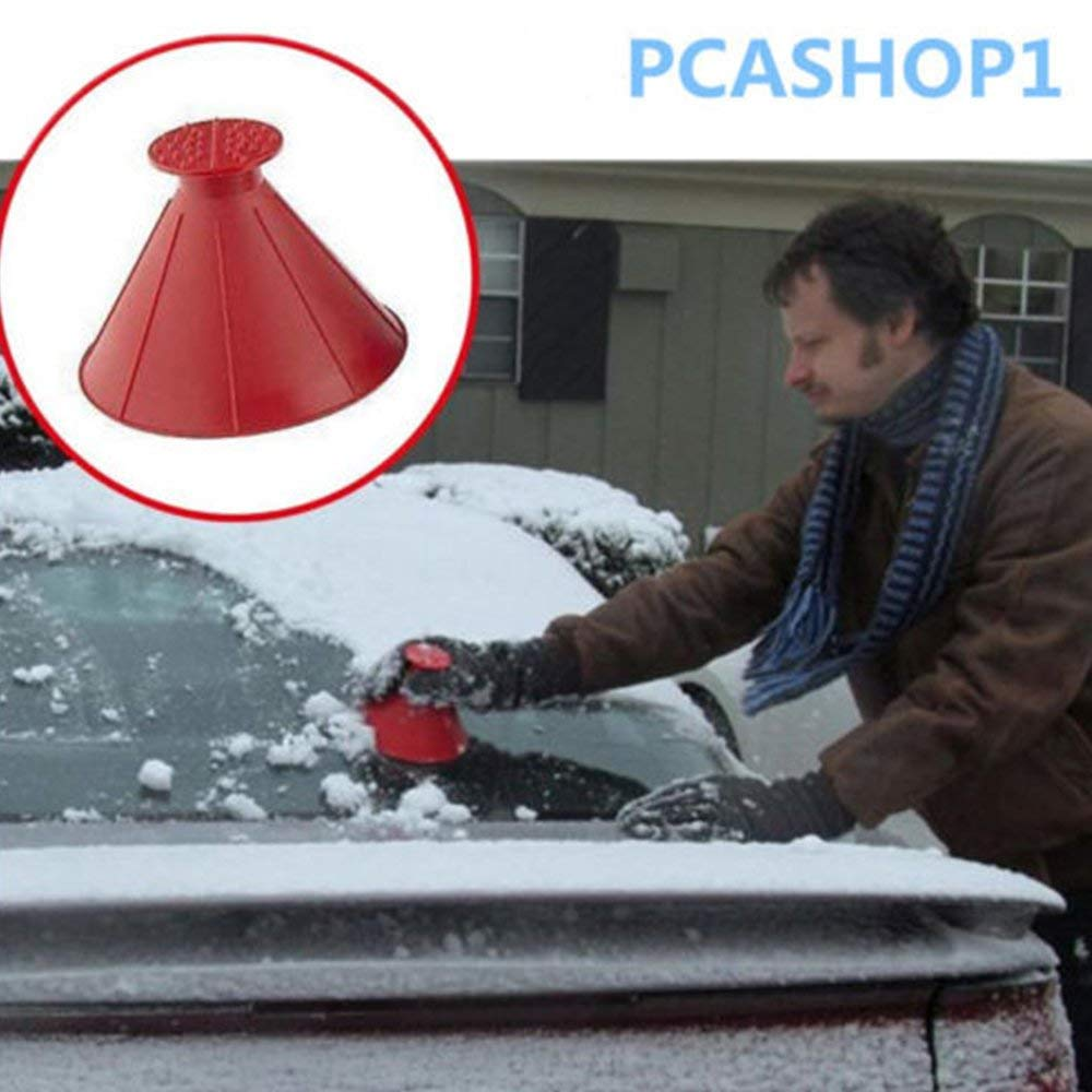 Outdoor Funnel Windshield Magic Home Snow Remover Car Tool Ice Scraper Black