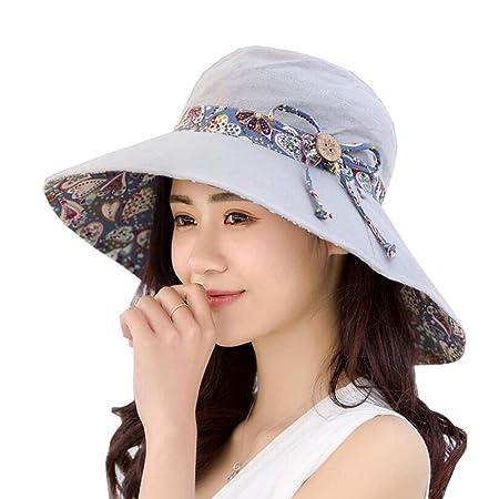 DALL Sombreros Sombrero para El Sol Mujer Gorra De Verano ala ...