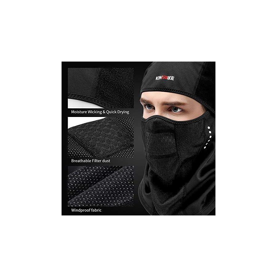 KINGBIKE Balaclava Ski Face Mask Windproof Warm Hood for Men Women