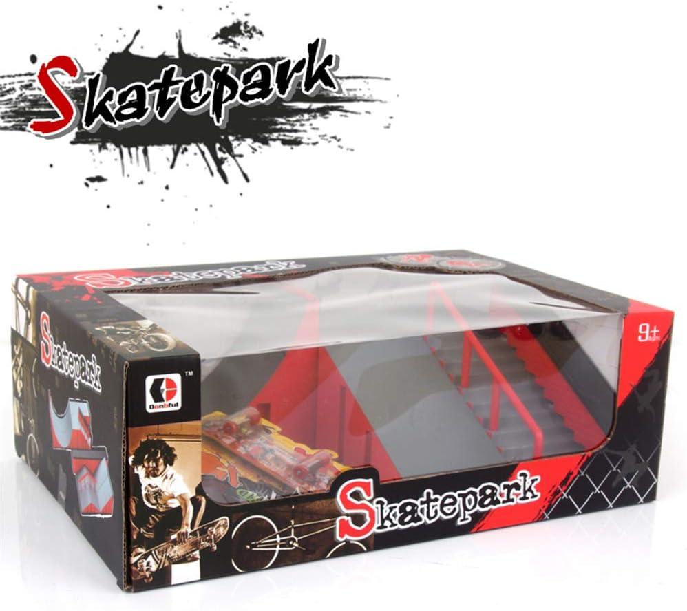 A, M BaronHong 4 Kinds Skate Park Kit Pi/èces de la Rampe dacc/ès pour Les Accessoires dentra/înement ultimes Parcs de Planche /à roulettes