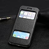 Kcool Iphone6s Ultra-thin Protective Sleeve Iphone6 Leather Leather Flip Open Apple Windows Protection Shell Cow Leather (4.7 Inches) Multi-color (black)