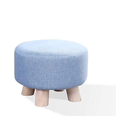 Swell Amazon Com Wooden Stool Solid Wood Linen Cotton Pad Seat Cjindustries Chair Design For Home Cjindustriesco