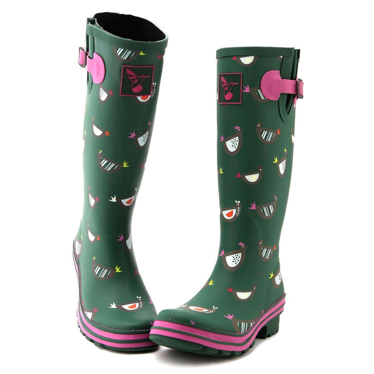 Evercreatures Brand Women's Rain Boots UK Brand Evercreatures Original Tall Rain Boot Gumboots Wellies B07CZMS26R 10 B(M) US / UK8 / EU41|Green 54d291