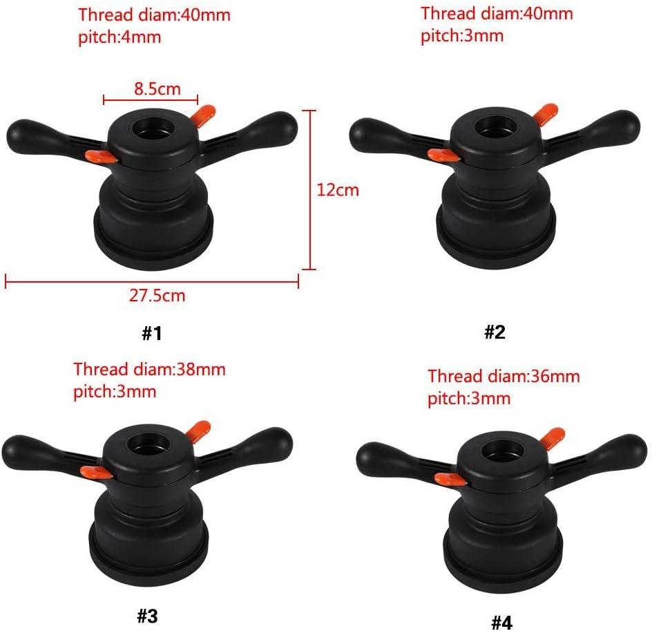 Thread Diameter 36mm, Pitch 3mm Herramienta de cambio de neum/áticos de equilibrador de rueda tuerca de ala de liberaci/ón r/ápida y tuerca de eje de cubo de copa de presi/ón Equilibrador de rueda