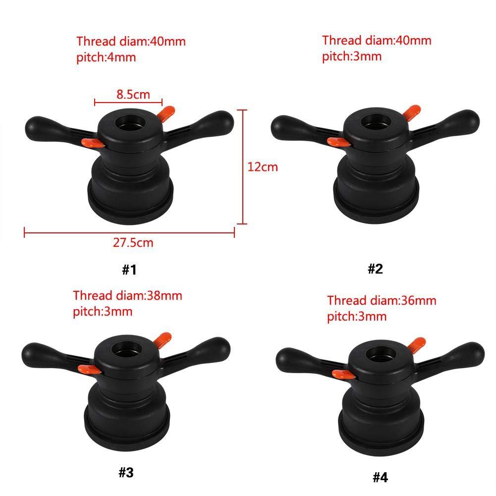 40mm// 38mm// 36mm Wheel Balancer Quick Release Wing Nut /& Pressure Cup Hub Shaft Nut Thread Diam. 36mm, Pitch 3mm Wheel Balancer Tire Change Tool