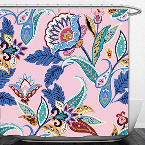 Interestlee Shower Curtain india seamless paisley pattern retro stylized wallpaper decoration wrapping print floral - Macy's Boston