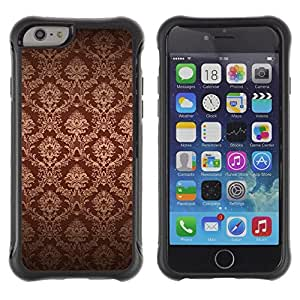 Pulsar iFace Series Tpu silicona Carcasa Funda Case para Apple iPhone 6+ Plus(5.5 inches) , Fondo de pantalla de Brown Bling Royal Vintage""