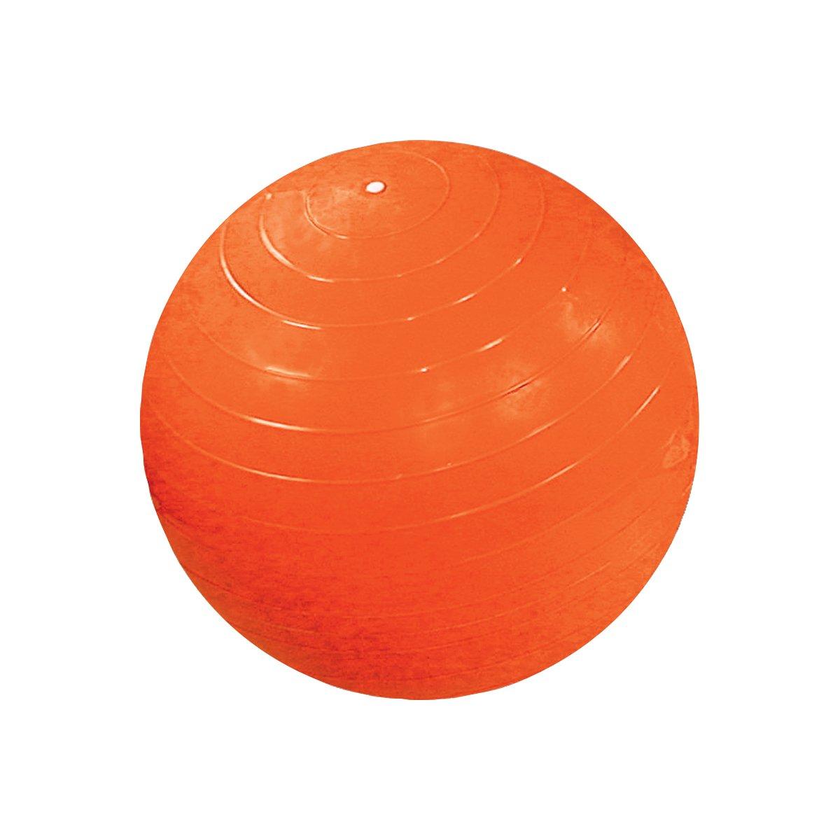 Cando 30-1807 Orange Non-Slip PVC Vinyl Inflatable Exercise Ball, 48'' Diameter, 300 lbs Weight Capacity