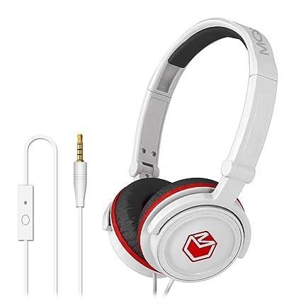 MQbix MQHT450WHT High Performance Headphones with Mic - White