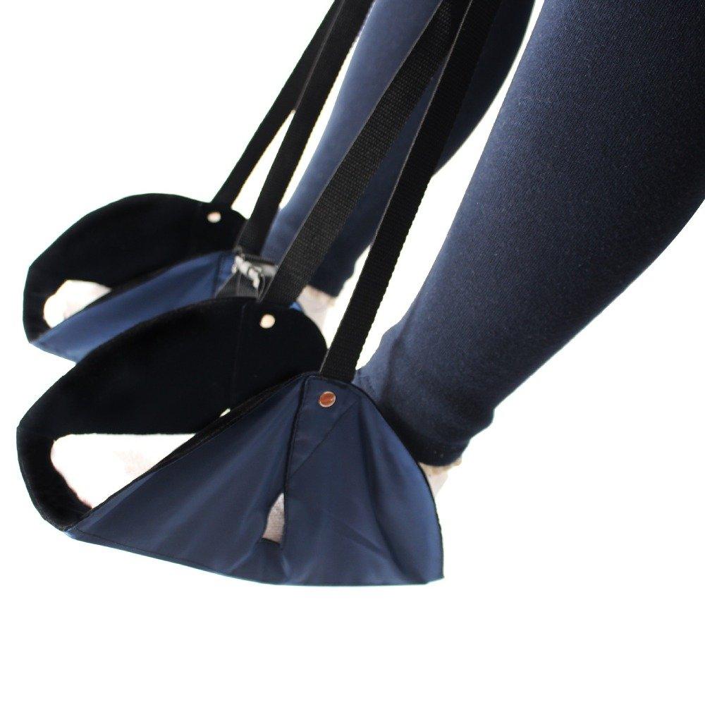 Hangangfoot riposo, new-type portatile regolabile in altezza da viaggio poggiapiedi volo carry-on poggiapiedi accessori da viaggio e da ufficio poggiapiedi, poggiapiedi Best amaca per ufficio Bus aereo (nero)