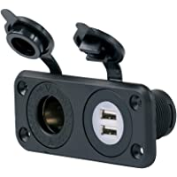 ParkPower by Marinco 12VCOMBORV Sea link Deluxe Dual USB Charger Receptacle 12-24V Combo