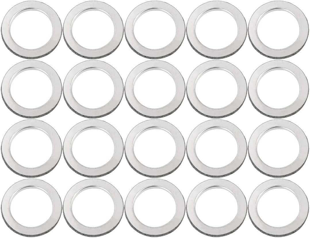 F FIERCE CYCLE 20pcs 26mm ID 38mm OD Motorcycle Exhaust Muffler Pipe Gasket O Rings for Honda CH125