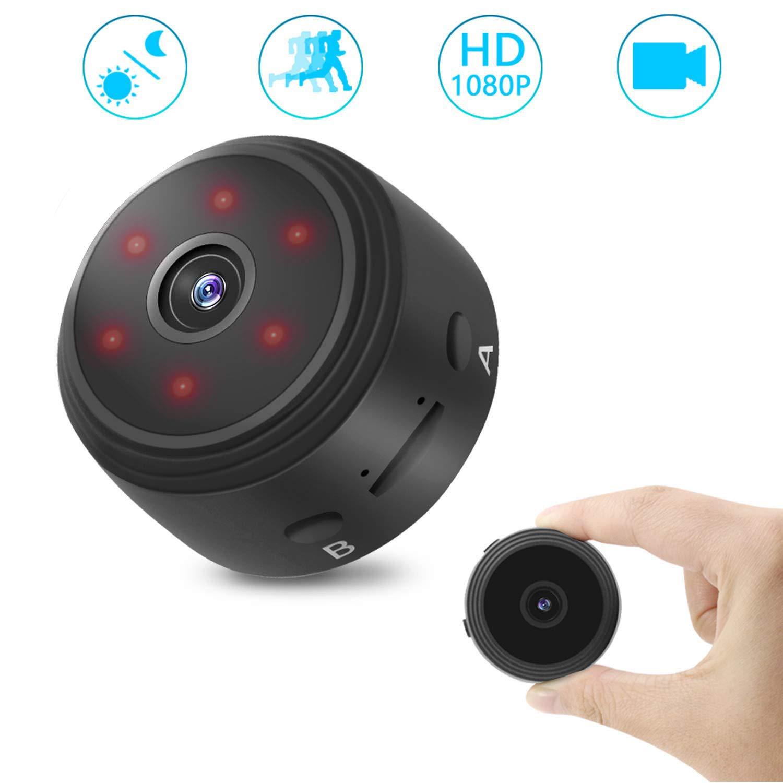 Cámaras Espía Oculta HD 1080P 120°Gran Angular Grabadora de mini vídeo Cámara con visión