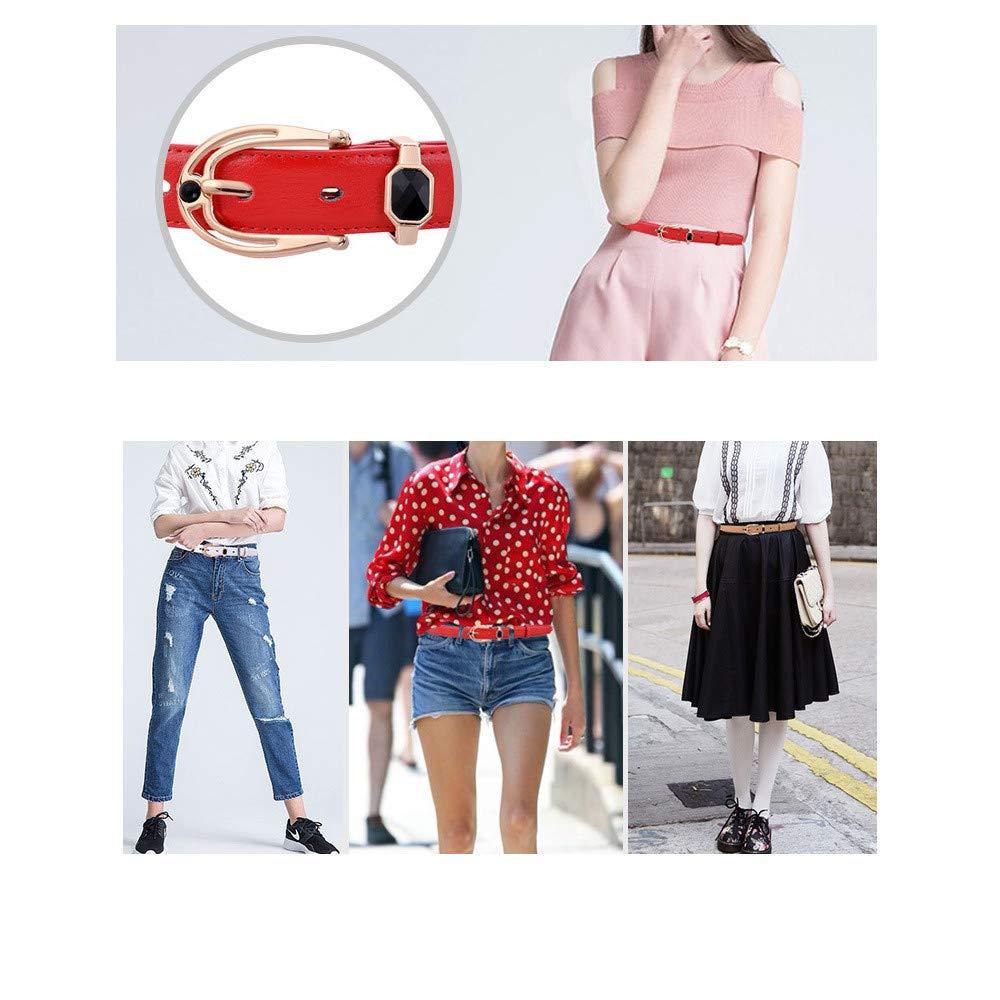 6d9b6b18620 Ceinture femme Boucle ardillon dames boutique ceinture en cuir serré dames  ceinture robe robe exquise élégance ceinture en cuir dames rétro en cuir  boucle ...