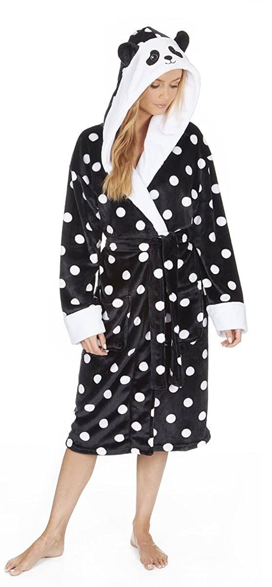 Ladies Novelty Animal Fleece Hooded Dressing Gown/Robe. Rabbit or ...