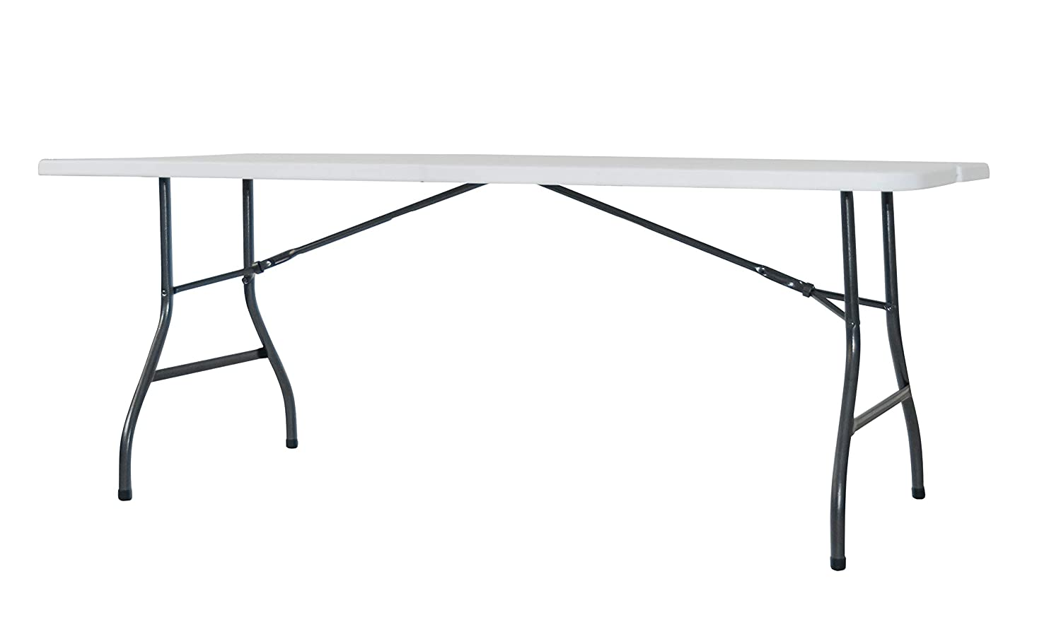 Alera ALEFR72H Fold-in-Half Resin Folding Table, 71w x 30d x 29h, White