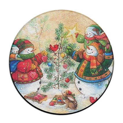 jianyue seasons greetings christmas holiday doormatsround floor mat entrance entry front door mat