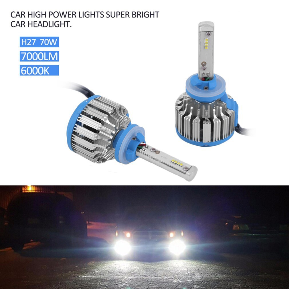 YTYC Car High Power Lights Super Bright Car Headlight Auto Front Lamp 7000lm 6000K