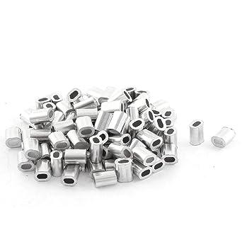 Amazon.com: Oval de aluminio mangas Pinzas para alambre de 1 ...