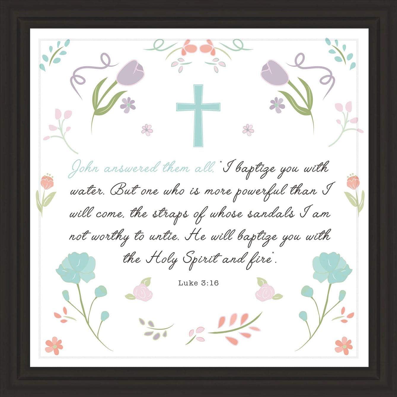 Unconditional Rosie Regalos de Bautizo | 18 x 7 cm | Decoración de Bautizo para niños y niñas | Regalo católico Padrinos | Regalo Ideal para la Hija y el diosino | Hermoso Arte para bautismos de bebé