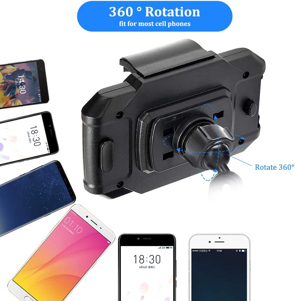 GPS etc Upgraded Car Cup Base Phone Holder Adjustable Cup Cradle Car Mount Compatible with Cell Phone Samsung S10+//Note 9//S8 Plus//iPhone 11 Pro//XR//XS Max//X//8//7 Plus