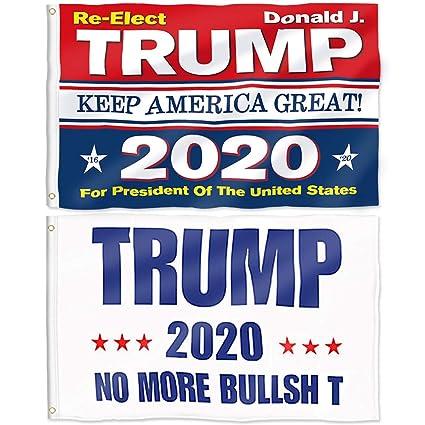 "Trump Flag Make America Great Again for USA President 3/"" x 5/"" Foot Donald J"