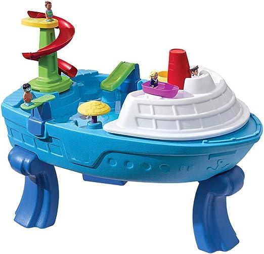 XDLYM Juego de Mesa de Playa para niños Juego de Mesa de Piscina de Arena, Arena y Agua para niños Jardín de Verano en Forma de Barco con 10 Accesorios: Amazon.es: Hogar