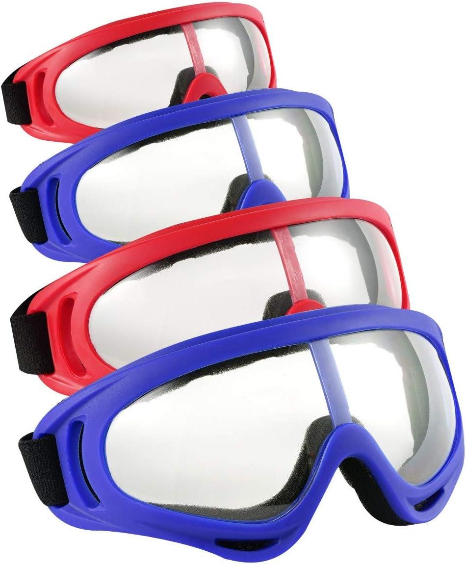 Locisne 4pcs Gafas de protección Seguridad,a Prueba Viento y protección contra el Polvo Gafas de Seguridad Flexibles para Deportes al Aire Libre CS Army Nerf Tactical Goggles Protección para los Ojos