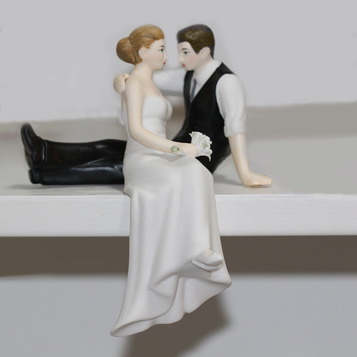 All Things Weddings Loving Look Bride and Groom Couple Wedding Cake Topper