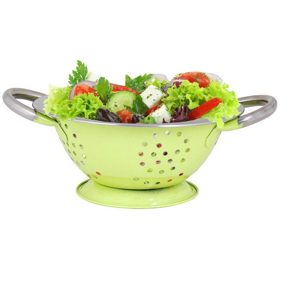 Kosma Twin Handle Colander | Nudelsalat Gemüsesieb in glänzender ...