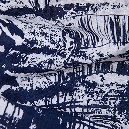 Bohemia Retro Fashion Printing O-Neck Shirt Tops Für Gentleman, Amlaiworld Kurzarm T-Shirt Bluse (XXL, Weiß)