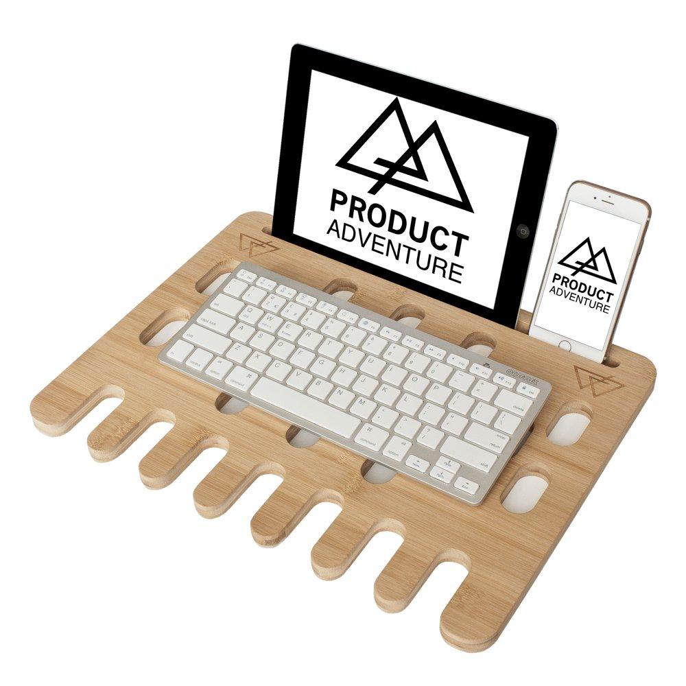 Bandeja de escritorio para ordenador portátil respetuosa con el medio ambiente, con tapón y con la estabilidad y comodidad, almohadilla de refrigeración, ...