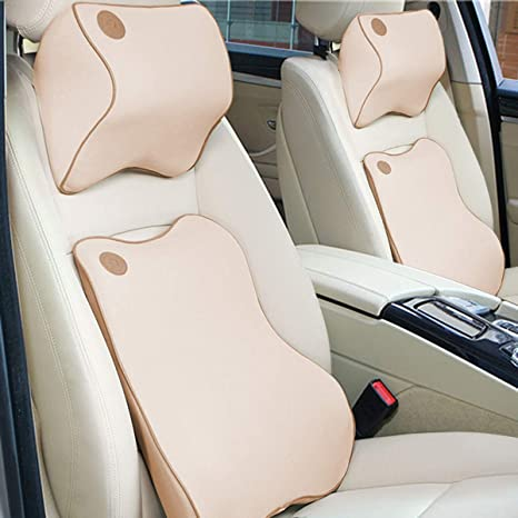 Anyshock Car Seat Headrest Pillow And Lumbar Support Travel Auto Head Neck Rest Cushion