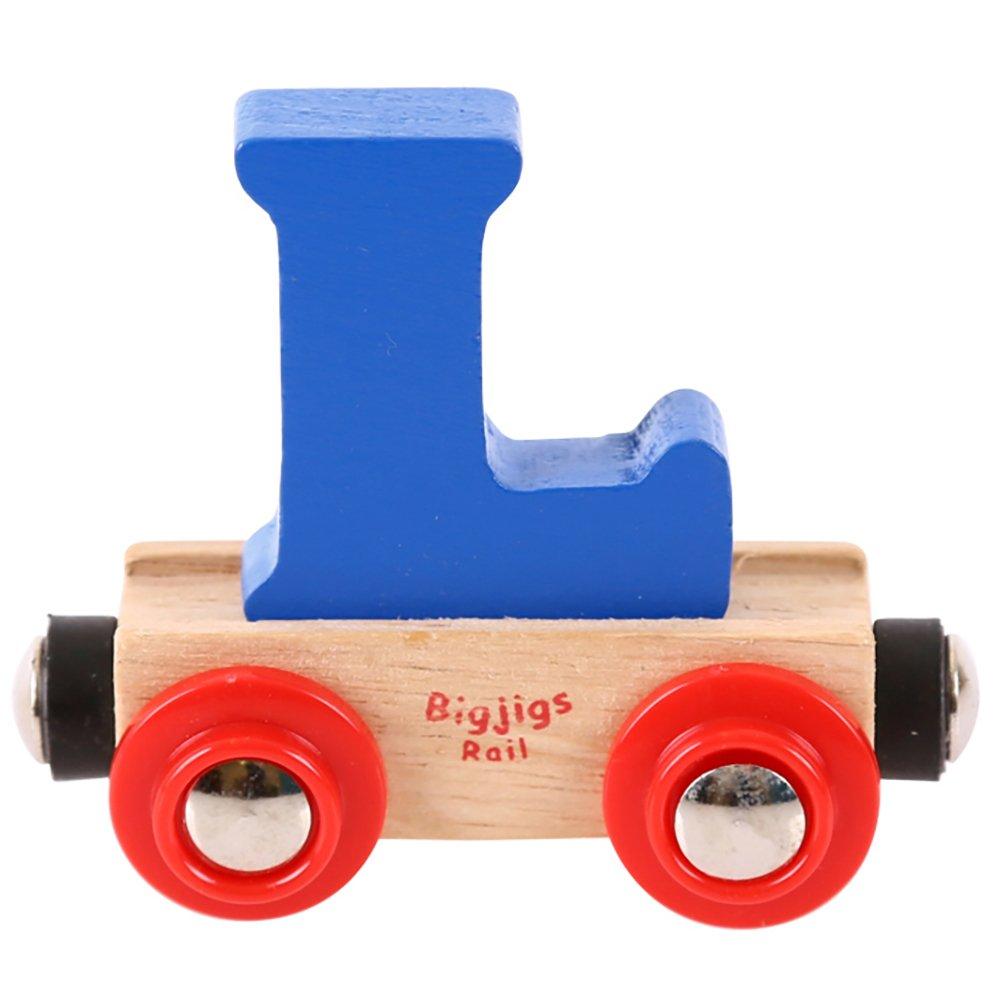 Dark Blue Bigjigs Rail Rail Name Number 0