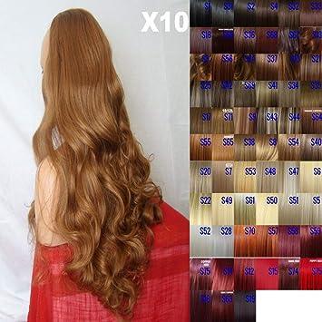 Cuidado de la peluca de la manera de 66,04 cm de la mitad de mujer con vestido plateado 3/Sexy 4 de largo de la colección de otoño cuidado de la peluca -