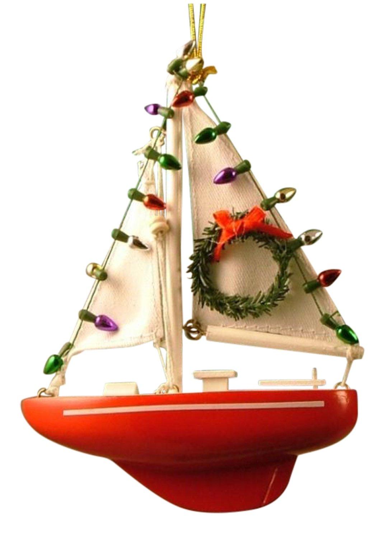 Amazon: Nautical Sailboat Sailing Sail Christmas Ornament: Home &  Kitchen