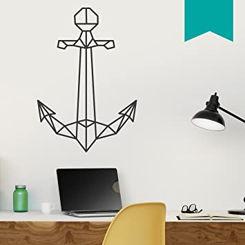 WANDKINGS Wandtattoo U0026quot;Origami Style Ankeru0026quot; 76 X 110 Cm   Türkis
