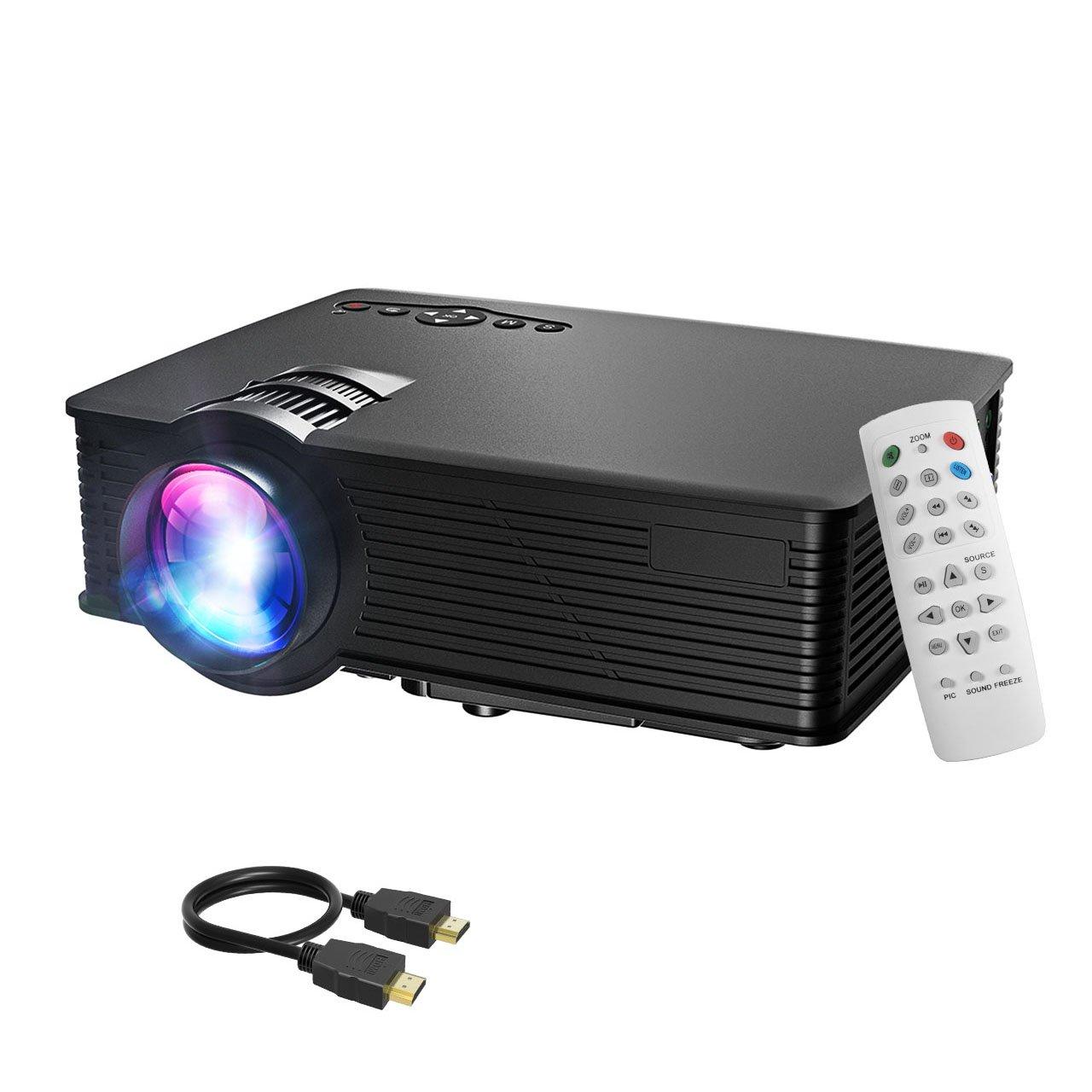 LCD proyector, Mpow LCD Projector 1200lúmenes LED Mini proyector Home Cinema portátil Multimedia cine en casa con USB SD HDMI...