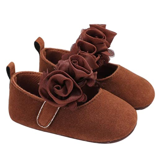 44b699e9b88e6 Amazon.com: WARMSHOP Baby Infant Girls Hand-Made Flower Soft Sole ...