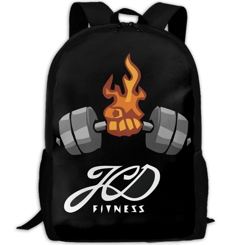 Fitness Dumbbell Double Shoulder Backpacks For Adults Traveling Bags Full Print Fashion by THIS STORE