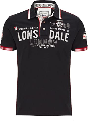 Lonsdale Sellindge Camiseta, Hombre, Negro, S: Amazon.es: Deportes ...