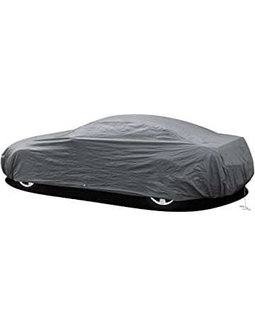 OxGord Car Cover - 1 Layer RainDustSand Exterior Protector - Ready-Fit Semi Glove Fit