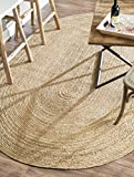 nuLOOM 200TAJT03-508O Alexa Eco Natural Fiber Braided Reversible Jute Rug (5-Feet X 8-Feet Oval)