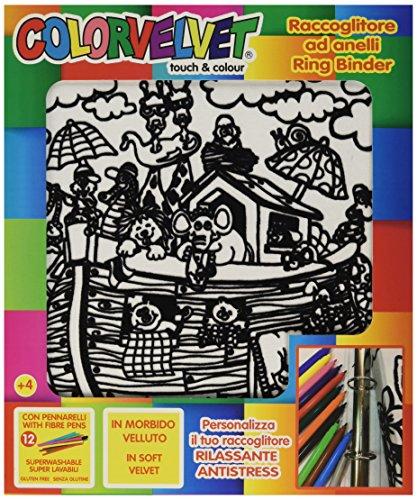 Colorvelvet 32 x 26.5 x 4 cm A4 Animals Travelling Ring Binder (Multi-Colour) ()
