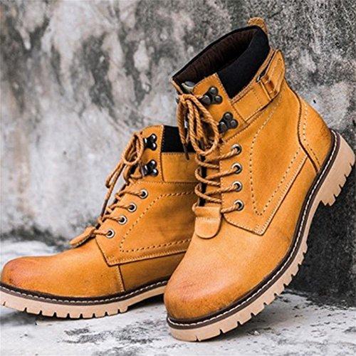 Comodidad de invierno masculino con botines impermeables Color card