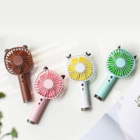 Cute 3-Speed Wind Adjustable Small Personal Portable Desk Stroller Fan Electric Cooling Fan for Office Room Outdoor Household Traveling Camping Gym Iusun Mini Handheld//Table USB Fan Blue