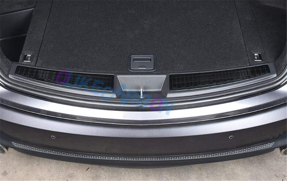 Silver OLIKE Stainless Steel Rear Bumper Foot Plate Cover Trunk Sill Guard for Acura RDX 2019-2020