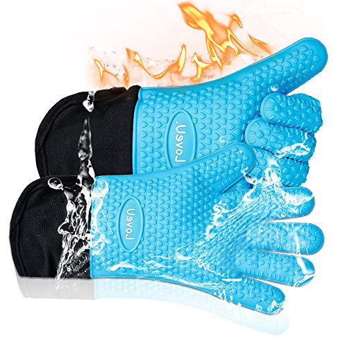 Oven Mitts Silicone Double layer Resistant