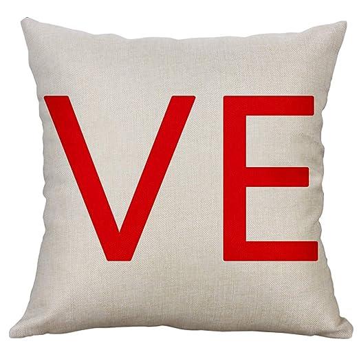 Amazon.com: VEFSU - Funda de cojín de lino simple y creativa ...