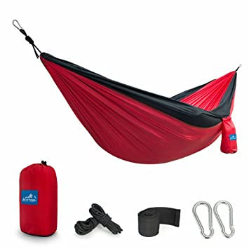 Portable Double Hammock Ace Teah Camping With Tree Straps Sleeping Outdoor Lightweight Parachute